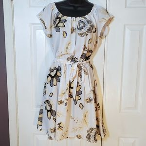 LC White Floral Dress